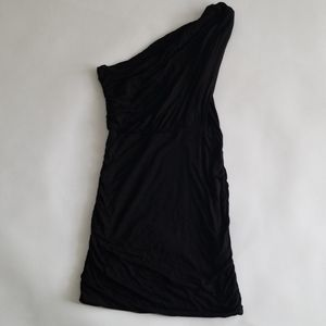 Lush Black One Shoulder Mini Dress L